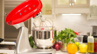 50's Style Red Stand Mixer - 50's Style blender, food, food processor, kitchen appliance, mixer, product, product design, small appliance, white