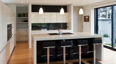 Khandallah Kitchen - Khandallah Kitchen - cabinetry   cabinetry, countertop, cuisine classique, floor, flooring, interior design, kitchen, room, wood flooring, gray