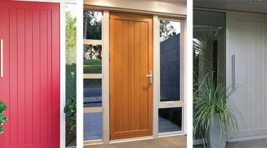 FIRST Latitude® entrance doors combine a clean linear curtain, door, home, house, interior design, real estate, screen door, window, window treatment, wood