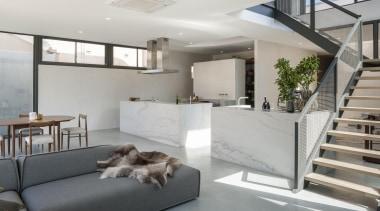 Domenic Ridolfi of Ridolfi Architecture - Winner of architecture, house, interior design, living room, loft, penthouse apartment, property, real estate, gray