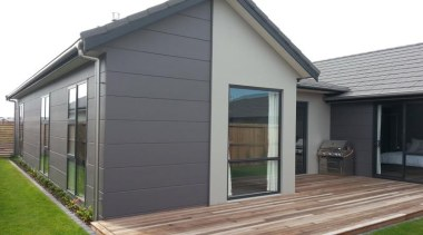 Stria Cladding - Stria Cladding - facade | facade, home, house, porch, property, real estate, roof, shed, siding, window, gray, white