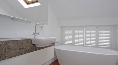 Parnell 4 - architecture | bathroom | daylighting architecture, bathroom, daylighting, floor, home, house, interior design, property, real estate, room, sink, tap, window, gray