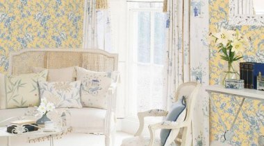 Grand Chateau Range - Grand Chateau Range - blue, chair, curtain, furniture, home, interior design, living room, product, room, wall, wallpaper, window, window covering, window treatment, white