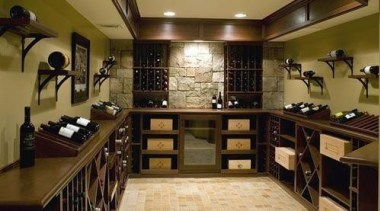 Modern Wine Cellar Ideas - Modern Wine Cellar cabinetry, countertop, furniture, interior design, kitchen, room, brown