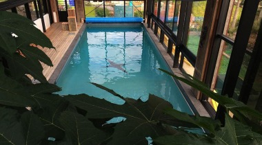 Silver Award recipient for Residential Swimming Pools over leisure, plant, property, reflection, swimming pool, tree, water, black