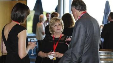 Laminex NZ's Trish Frankland — at Villa Maria communication, event, public relations, black
