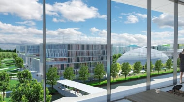 British landscape architecture firm Grant Associates working with condominium, corporate headquarters, mixed use, real estate, urban design, gray