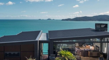 2013 ADNZ National Design Awards Winner - New cottage, estate, home, house, property, real estate, roof, teal, black