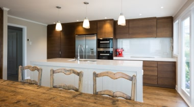 Kitchen/Dining - Kitchen/Dining - countertop | cuisine classique countertop, cuisine classique, floor, flooring, hardwood, interior design, kitchen, real estate, room, wood, wood flooring, gray, brown