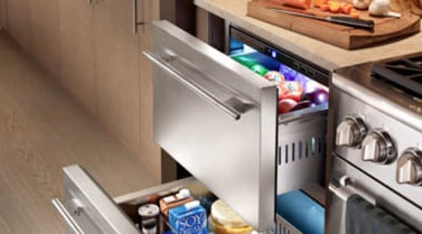 The new True Professional website at www.true-residential.com is countertop, drawer, furniture, home appliance, kitchen, kitchen appliance, major appliance, refrigerator, small appliance, gray, brown