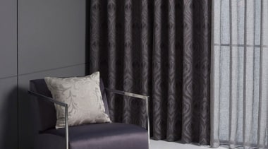 Antonia 1 curtain, decor, floor, interior design, living room, shade, textile, wall, window, window blind, window covering, window treatment, gray, black