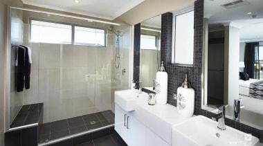 Ensuite design. - The Lexington Two Storey Display bathroom, interior design, property, real estate, room, gray, white