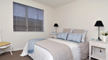 For more information, please visit www.gjgardner.co.nz bed frame, bedroom, ceiling, floor, home, interior design, property, real estate, room, wall, window, window covering, window treatment, gray