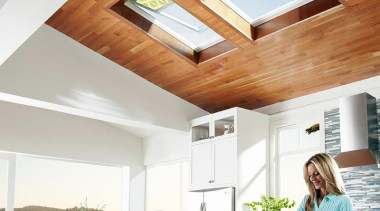 Bringing in natural light and fresh air, skylights ceiling, daylighting, home, house, interior design, kitchen, window, white
