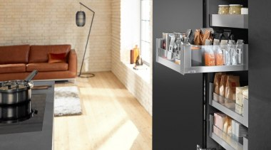 LEGRABOX free - Box System - floor | floor, flooring, furniture, interior design, kitchen, tile, white, black