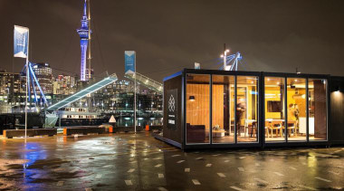 Samsung Electronics New Zealand has revealed its Home city, cityscape, downtown, metropolis, night, reflection, black