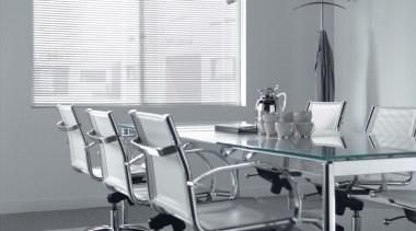 luxaflex aluminium venetian blinds - luxaflex aluminium venetian chair, desk, floor, furniture, glass, interior design, office, office chair, product, table, gray