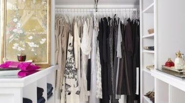 WALK IN CLOSET - Closet - walk in boutique, closet, clothes hanger, interior design, room, shelf, gray, white
