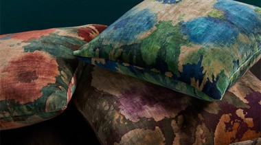 Big, bold and beautiful, ALCHEMY is the perfect cushion, textile, black, teal
