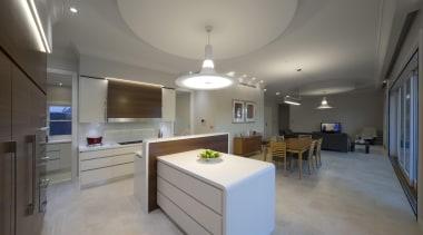 Winner Kitchen Design & Kitchen of the Year apartment, ceiling, countertop, daylighting, floor, interior design, kitchen, property, real estate, room, gray