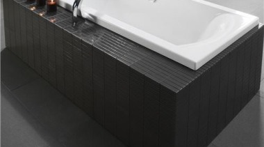 Crisp, clean external acrylic edges combined with the angle, bathroom sink, bathtub, plumbing fixture, sink, tap, black