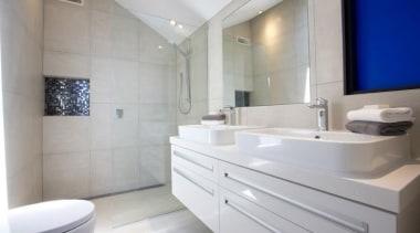 Earthstone talc ivory bathroom tiles - Earthstone Range bathroom, bathroom accessory, bathroom cabinet, interior design, product design, property, room, sink, gray