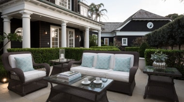 Outdoor living - Outdoor living - backyard | backyard, courtyard, estate, furniture, home, house, interior design, living room, luxury vehicle, outdoor structure, patio, property, real estate, black, gray