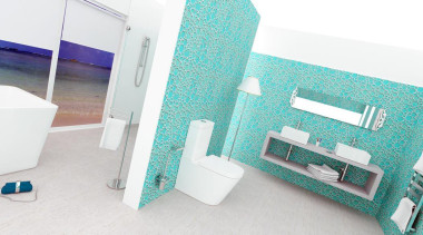 the understated and elegant beauty of the LOFT bathroom, floor, product, white