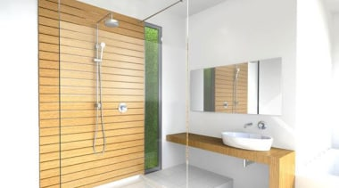 Minimalist forms with clean, elegant lines designed to bathroom, interior design, real estate, room, wood, white