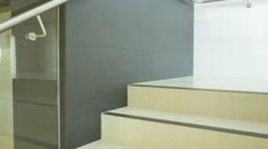 Wall featuring Naturali basalto vena scura and Floor daylighting, floor, glass, handrail, product design, stairs, yellow