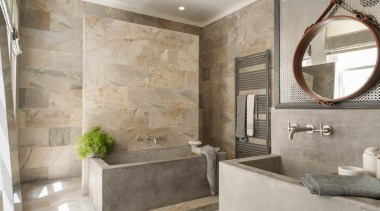 Ridolfi Architecture – Highly Commended - 2015 Trends bathroom, estate, floor, flooring, home, interior design, real estate, room, tile, wall, gray