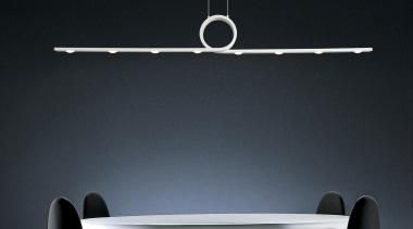 """Curl"" LED pendant from La Creu, SpainEnergy Saving furniture, lamp, light fixture, lighting, product design, table, black"