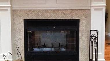 For more information, please visit Casa Italiana fireplace, floor, flooring, hardwood, hearth, wood burning stove, gray