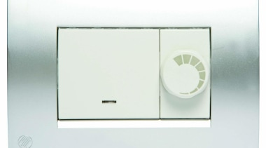 Modena single switch with dimmer - White with light switch, switch, technology, white