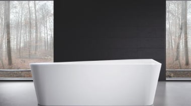 Working with star designer Arik Levy, Kaldewei has angle, bathroom sink, bathtub, plumbing fixture, product design, tap, black, white, gray