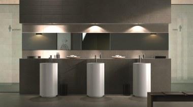 Fussena bathroom floor and wall tiles - Natural ceiling, floor, interior design, light fixture, lighting, product design, black, gray