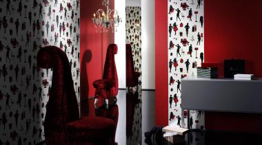 Aqua Deco Range - curtain | interior design curtain, interior design, red, room, textile, wall, window, black, red