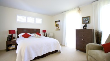 For more information, please visit www.gjgardner.co.nz bed frame, bedroom, ceiling, floor, home, interior design, property, real estate, room, suite, window, white
