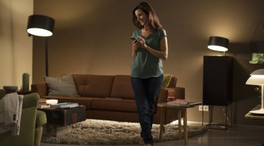 Philips Hue 04 - Philips Hue 04 - furniture, girl, interior design, lighting, room, table, brown