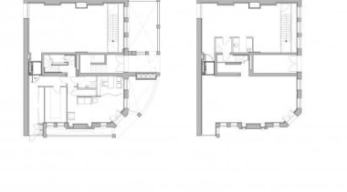 The South Fulham Conservative Club lies unoccupied close angle, architecture, design, diagram, drawing, floor plan, plan, product, structure, white