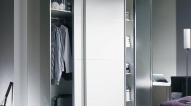 Top Line 22 is a sliding door fitting door, furniture, interior design, product design, wardrobe, gray, black