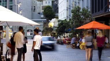 NOMINEEFort Street Area Upgrade (2 of 4) - city, downtown, market, marketplace, neighbourhood, pedestrian, public space, road, street, town, urban area, gray, black