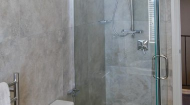 Bernini porcelain tile bathroom. - Bernini - bathroom bathroom, floor, plumbing fixture, room, shower, tile, wall, gray