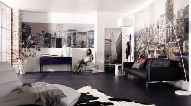 Skylines Alle Interieur - Italian Color Range - couch, floor, flooring, furniture, interior design, living room, room, wall, white, black