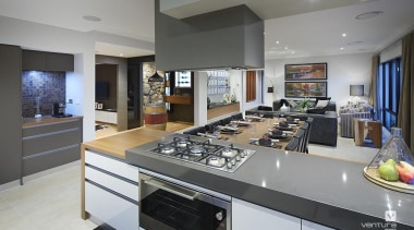 Kitchen design. - The Macquarie Display Home - countertop, interior design, kitchen, gray