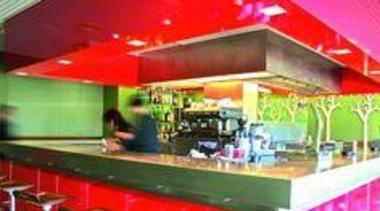 Featuring Formica AR+ Carnaval - Featuring Formica AR+ interior design, restaurant, red
