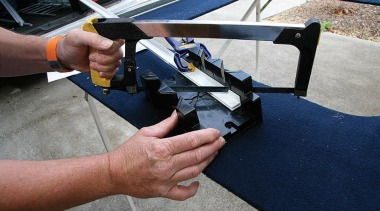 For the best results, mitre the two lengths automotive exterior, gun, gray, blue