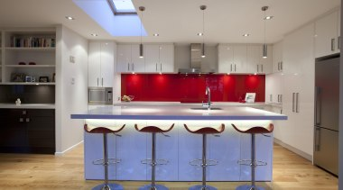 glass splashback - Blakey Kitchen - cabinetry | cabinetry, countertop, interior design, kitchen, real estate, room, gray