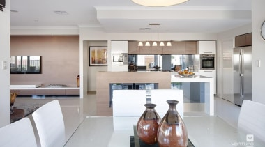 Kitchen design. - The Chianti Display Home - countertop, interior design, kitchen, property, real estate, gray, white