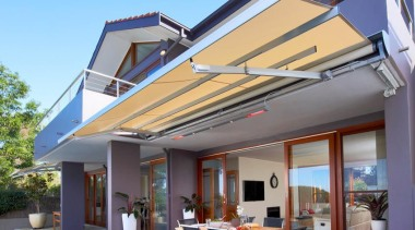 luxaflex sunrain awning - luxaflex sunrain awning - awning, daylighting, estate, facade, home, house, outdoor structure, property, real estate, residential area, roof, window, gray